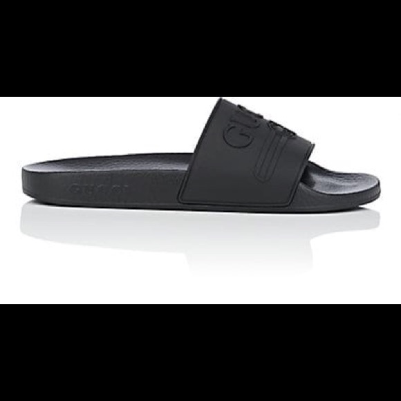 878adbe00d921 Gucci Shoes - Women Black Pursuit Slide Pool Slides